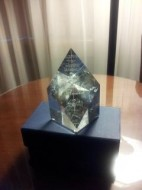 This is actually a picture of Marsha Skrypuch's 2011 Crystal Kite award for her fabulous book Stolen Child--but I hope to have my own pic soon!